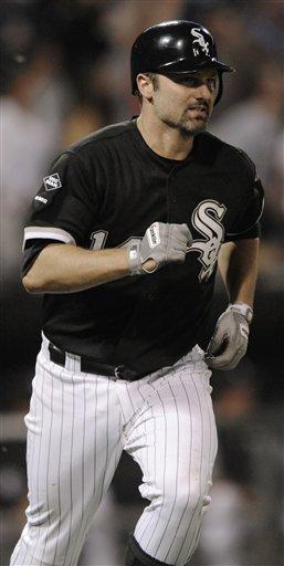 AL Player of the week Paul Konerko hits a home run against Minnesota last Wednesday. (AP/Paul Beaty)
