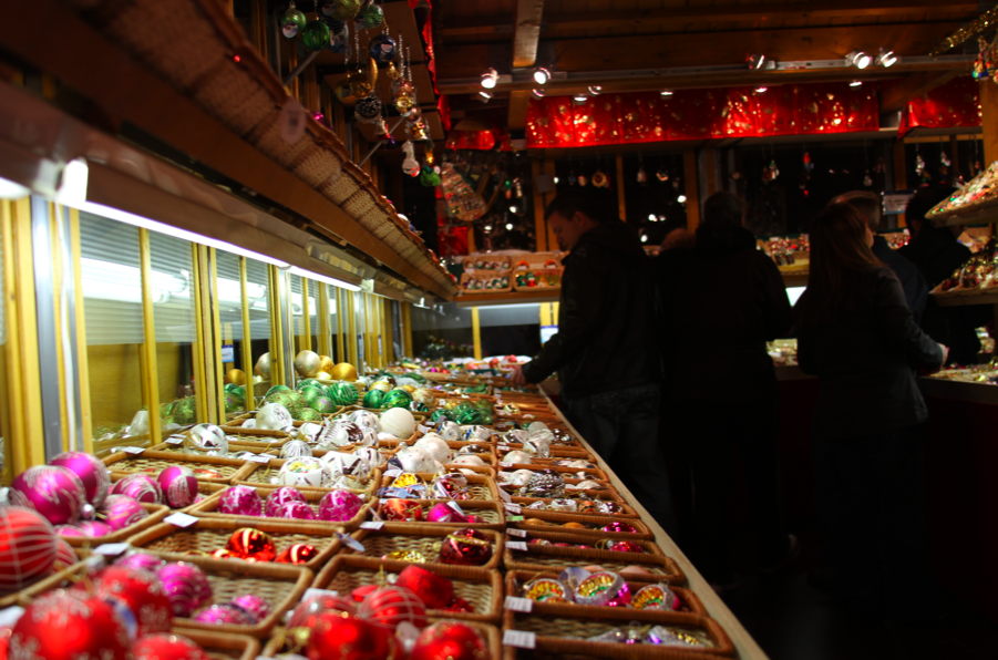 Ornaments for sale at the Christkindlmarket Chicago. (Tricia Bobeda/WBEZ)