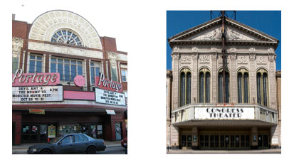 """Two neighborhoods, two theaters, two fights, one owner: The Portage and Congress theatrers owned by Erineo """"Eddie"""" Carranza."""