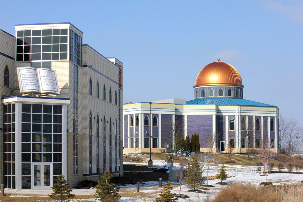 The Prayer Center, a mosque in Orland Park, was built in 2004, as more area Muslims moved to town. (WBEZ/Robin Amer)