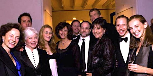 From left: Margot Pritzker, Cindy Pritzker, Jason Pritzker, Abigail and Gigi Pritzker Pucker, Ben Pritzker, Michael Pucker, Brian Traubert, Penny Pritzker, David Pritzker and Bea Barbareschi. (Crain's Chicago Business/Erik Unger)
