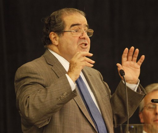 As DOMA heads for the Supreme Court, Romney wants to appoint more judges like Antonin Scalia (AP)