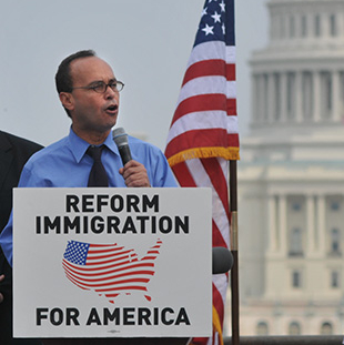 U.S. Rep. Luis Gutierrez, an immigration advocate, does not support the STEM Act. (AP/Peter Holderness)