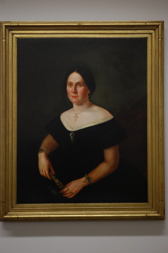 Mary Lincoln portrait, 2011 after Bauman restored it to exactly the way it appeared when it was originally painted.(Courtesy of the Abraham Lincoln Presidential Library and Museum)
