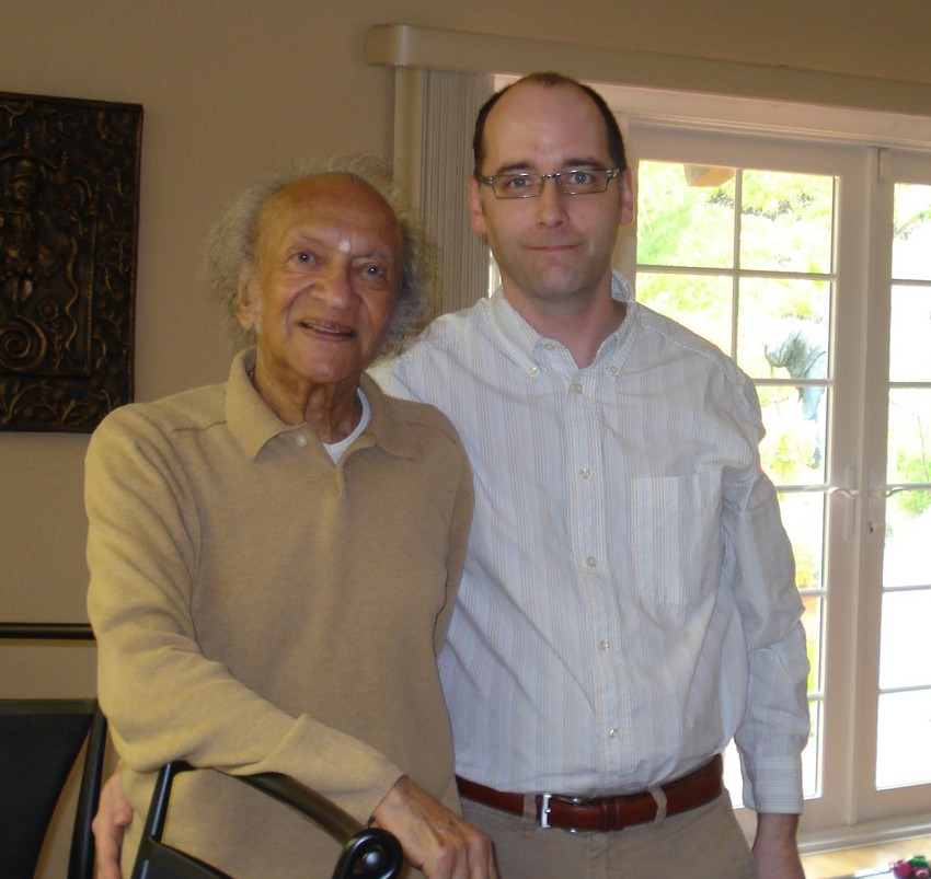 Ravi Shankar and Brian Keigher (courtesy Brian Keigher)