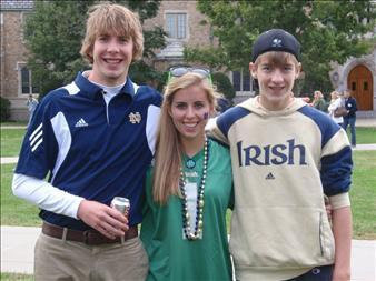 A photo of Declan - left - with his brother and sister. (Daily Herald)