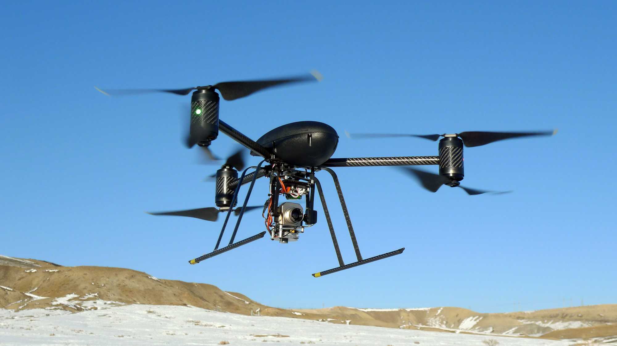 Drone makes a test flight in Mesa County, Colo. (AP Photo/Mesa County Sheriff's Unmanned Operations Team)