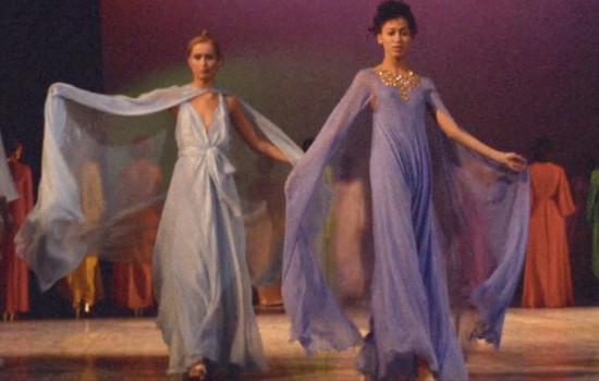 Models strut their stuff in Versailles '73 (courtesy filmmaker)