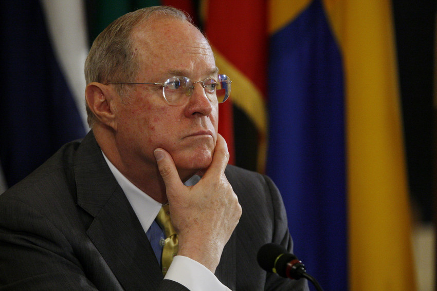 File: Supreme Court Justice Anthony Kennedy. Kennedy is considered the swing vote in the Prop 8 case. (AP/File)