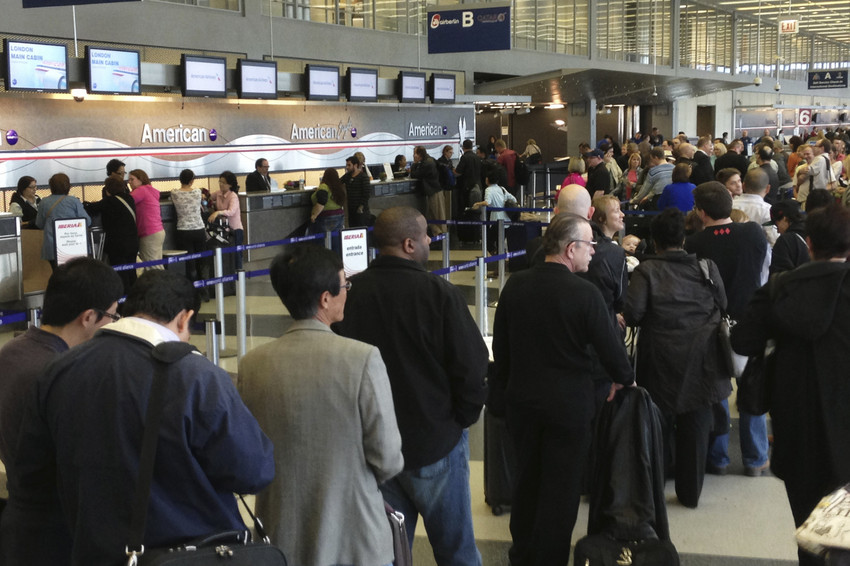 Sequester cuts caused travel delays at airports across the country before Friday's congressional votes. (AP/File)