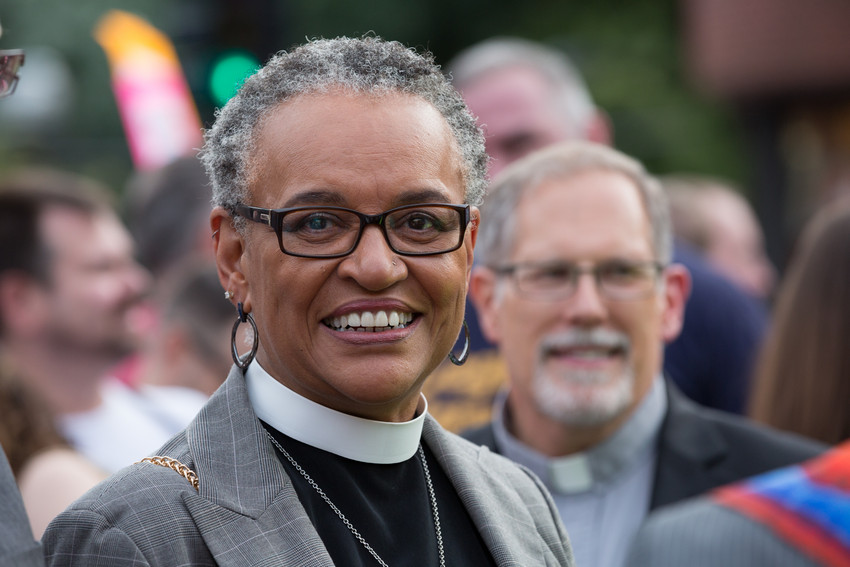 Illinois clergy rally for marriage equality (WBEZ/Shawn Allee)
