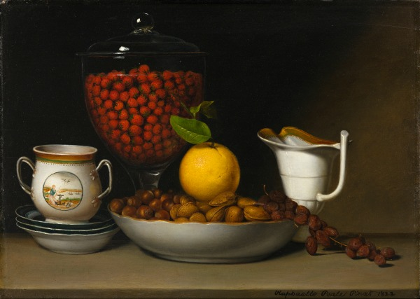 Raphaelle Peale. Still Life - Strawberries, Nuts, &c., 1822. Art Institute of Chicago. Gift of Jamee J. and Marshall Field.