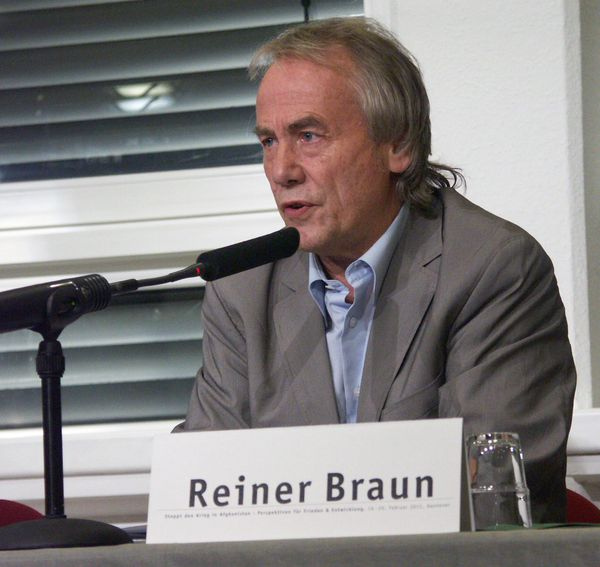 Reiner Braun at a peace and development symposium in February of 2011. Braun will attend a NATO counter-summit this weekend. (Flickr/FreiKoop)