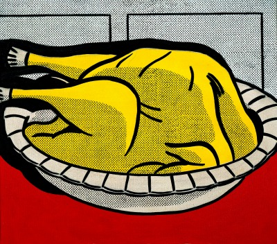 Roy Lichtenstein. Turkey, 1961 is also on display at the 'Art and Appetite' exhibit in the Thanksgiving gallery. Private collection. (Estate of Roy Lichtenstein.)