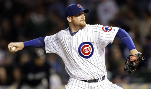 When will Ryan Dempster throw his last pitch for the Cubs? Or has he? (AP/Charles Rex Arbogast)