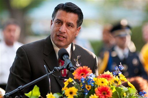 Gov. Brian Sandoval of Nevada is one of the high-ranking Republicans of color being showcased at the GOP convention this week. (AP/file)