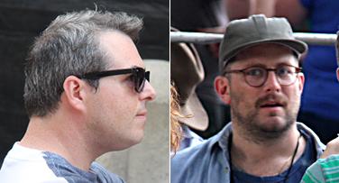 Pitchfork Music Festival organizers Ryan Schrieber and Chris Kaskie (WBEZ/Andrew Gill)