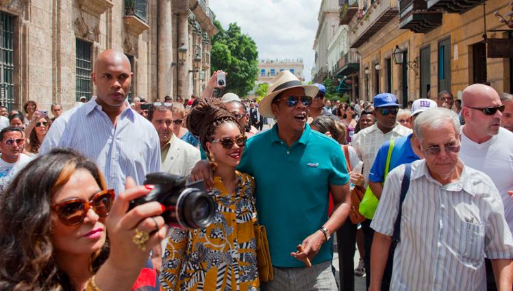 File: Jay-Z and Beyoncé visiting Cuba. (AP/File)