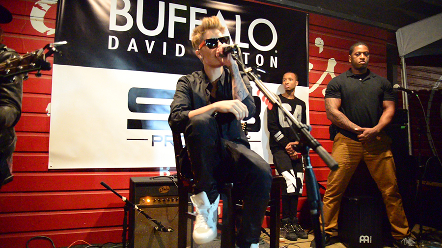 """The Biebs at the """"Sunday Funday Showcase"""" at SXSW (Op and Buffalo David Bitton)."""