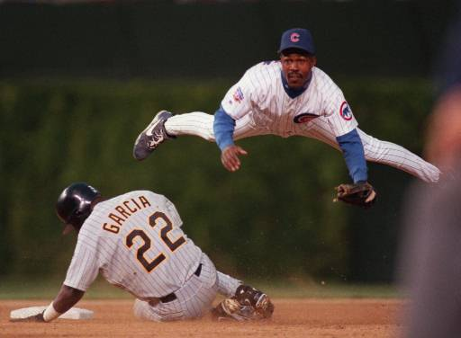 Shawn Dunston in his last year with the Cubs 1997 (AP Photo/Fred Jewel)