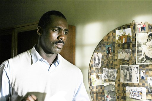 Actor Idris Elba appears in a scene from the HBO film 'Sometimes in April,' which Ashuntantang considers a more robust and objective re-telling of the Rwandan Genocide. (AP/HBO)