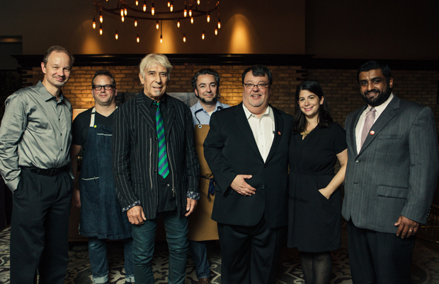 Group pics of the Sound Ops crew together are surprisingly hard to come by, but here we are with John Cale and chefs Paul Kahan and Matthias Merges at our last Eat to the Beat dinner.