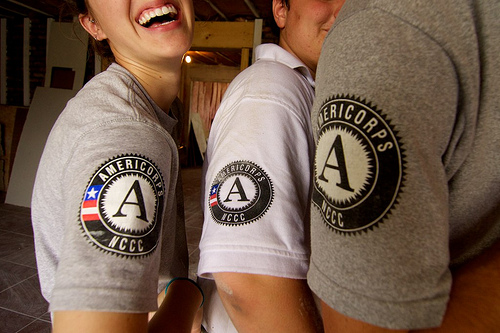 The AmeriCorps serves as an example of voluntary civil service in the United States (Flickr/St. Bernard Project)