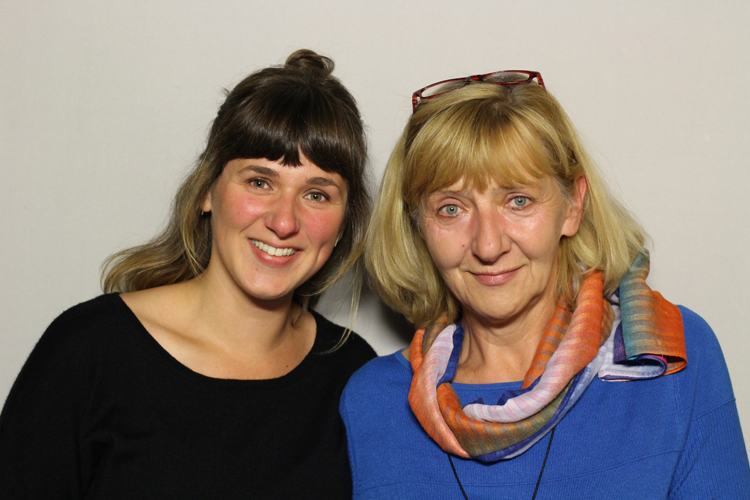 Agatha Vonderberg brought her mom, Margaret Wieczorek, to the StoryCorps booth. (Courtesy of StoryCorps)