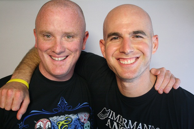 Joe Schneider and Jonny Imerman (Photo by StoryCorps)