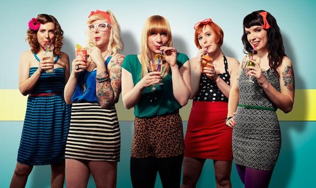 Left to right: Nicole, Nikita, Caitlin, Sara and Kristin of the Chicago band Summer Girlfriends. (Dave Rentauskas Photography/Rentauskas.com)