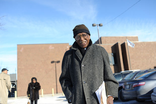 Timuel Black donated his papers to the Chicago Public Library in January. (WBEZ/Bill Healy)