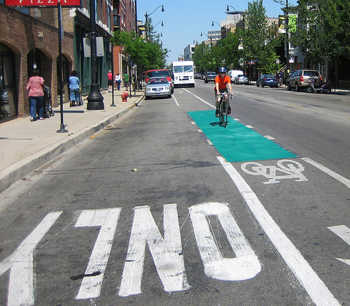 Bike infrastructure may be placed in areas that are most convenient instead of areas that are most dangerous to bikers, suspects Steven Vance. (Flickr/TouringCyclist)