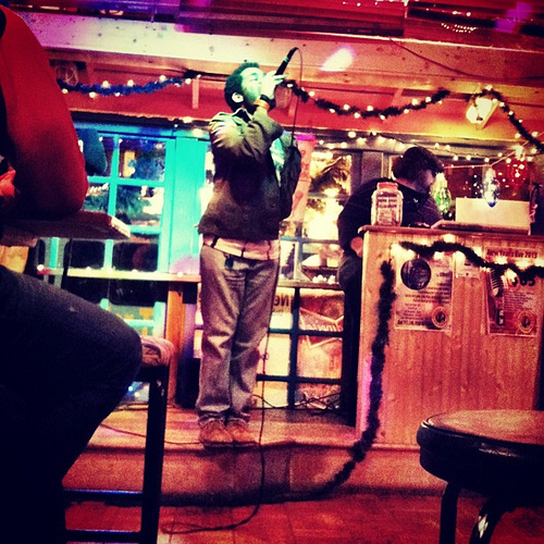 Life is but a karaoke dream at Trader Todd's. (Poggled)