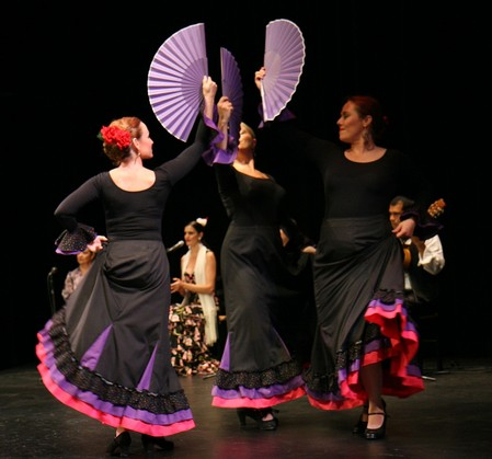 The Las Compañeras Dance Company, directed by Melody Vasquez, performing at last year's Night in Spain. oto by St. John Cantius Church)