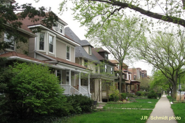 Victorian homes in Sheridan Park
