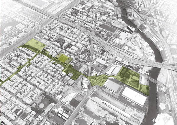 UrbanWorks master plan for Pilsen aims to increase the neighborhood's greenspace. (Courtesy of UrbanWorks)