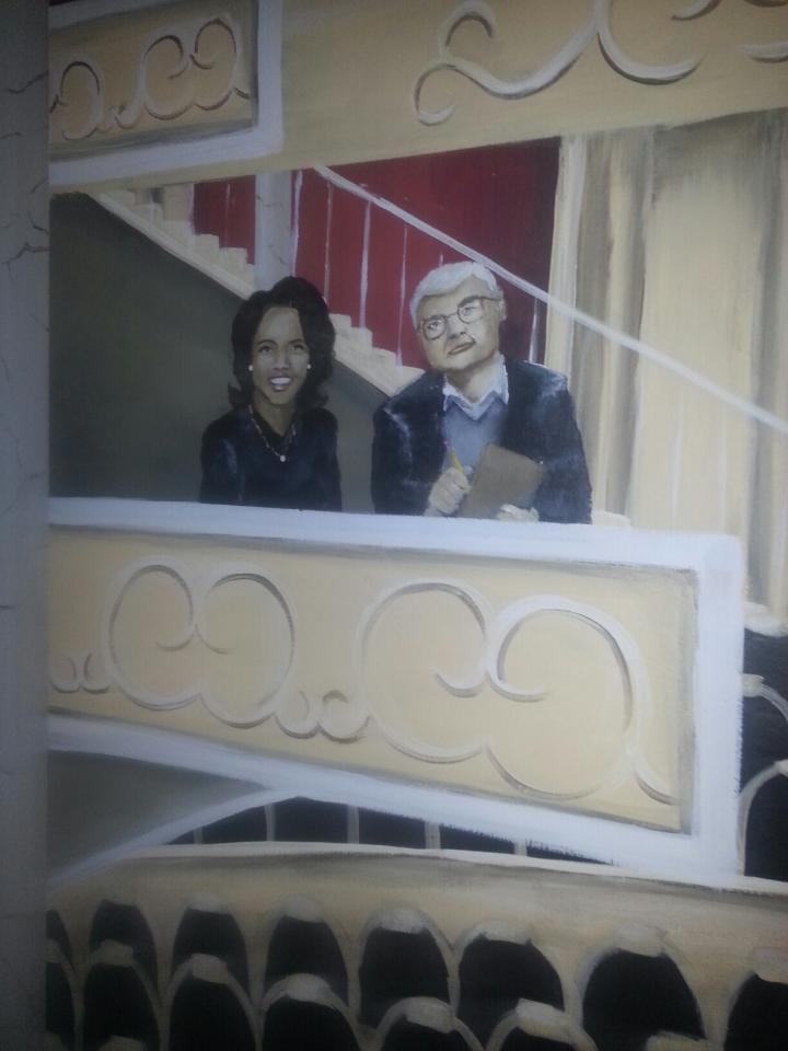 Illustration of Roger Ebert and Oprah Winfrey. (Courtesy of Kathy Thisson)