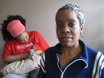 Lactation consultant Vanessa Stokes says Cook County's Stroger Hospital has a long way to go. (WBEZ/Chip Mitchell)