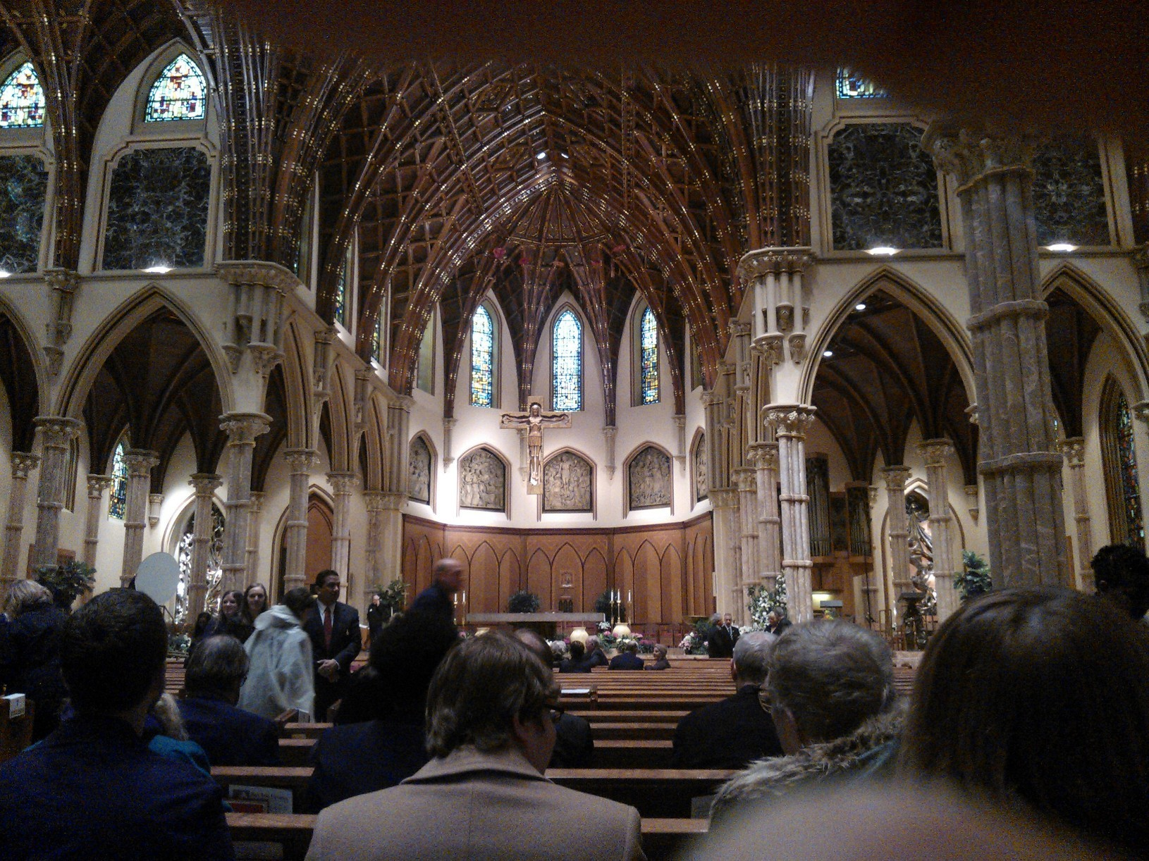 The view from the pew: inside Roger Ebert's funeral. (WBEZ/Nico Lang)