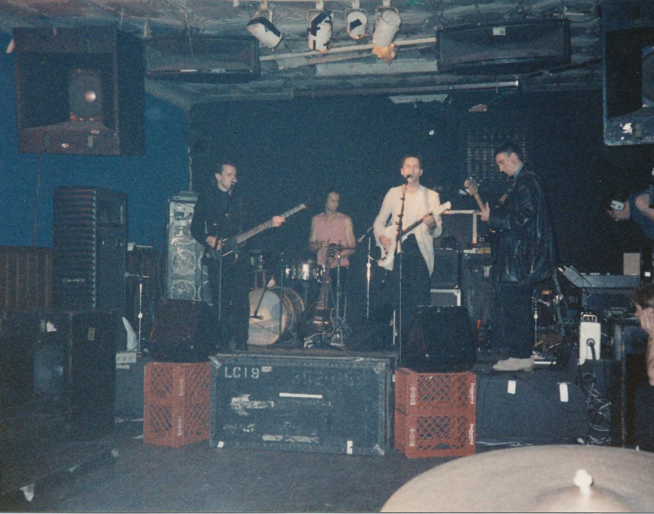 Wire soundcheck at Maxwell's, 1987 (Jim DeRogatis).