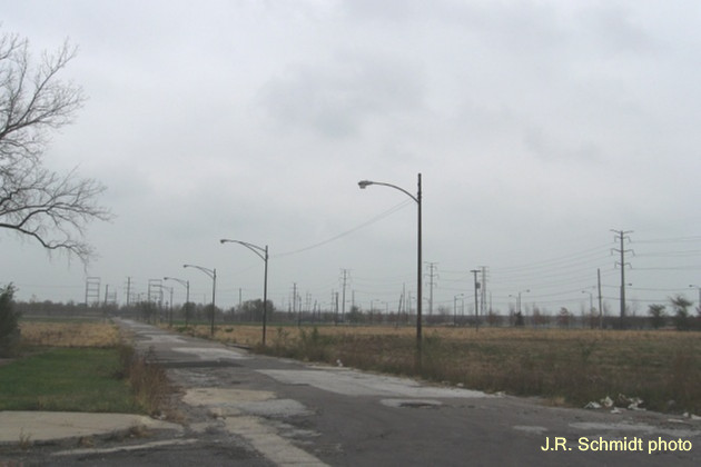 Cleared land near the South Works site