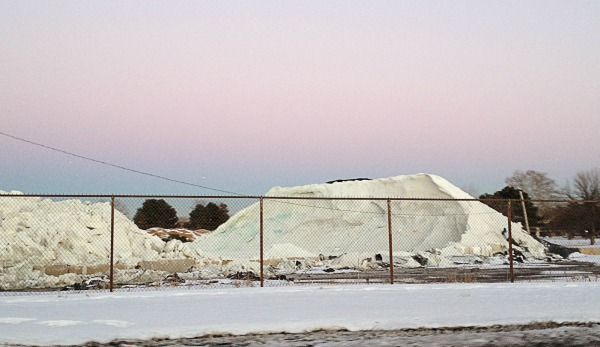 The Chicago salt pile that Oak Parker Aaron Stigger sees on his way to work. (Photo courtesy of Aaron Stigger)