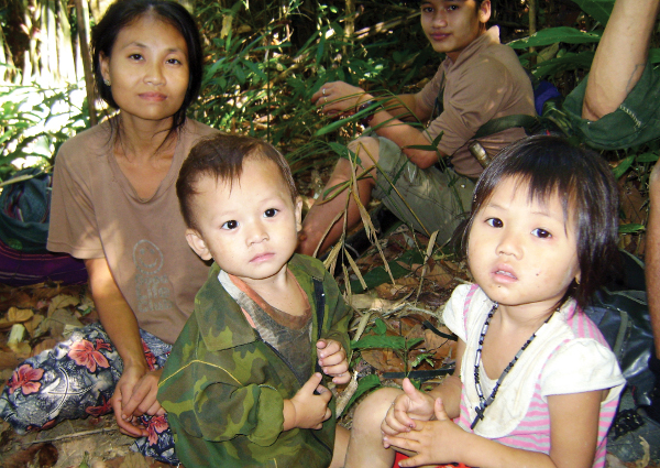 Burmese refugees hiding in the jungles from rebel armies. Gifts inspired by Alternative Gifts International by go to groups like the Burma Humanitarian Mission. (Courtesy of Burma Humanitarian Mission)