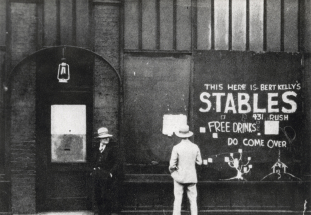 Bert Kelly's Stables, 431 N. Rush St., was a famous jazz club and speakeasy. (Photo courtesy University of Chicago archives)