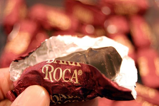Almond Roca dark chocolate Dark Roca (WBEZ/Louisa Chu)