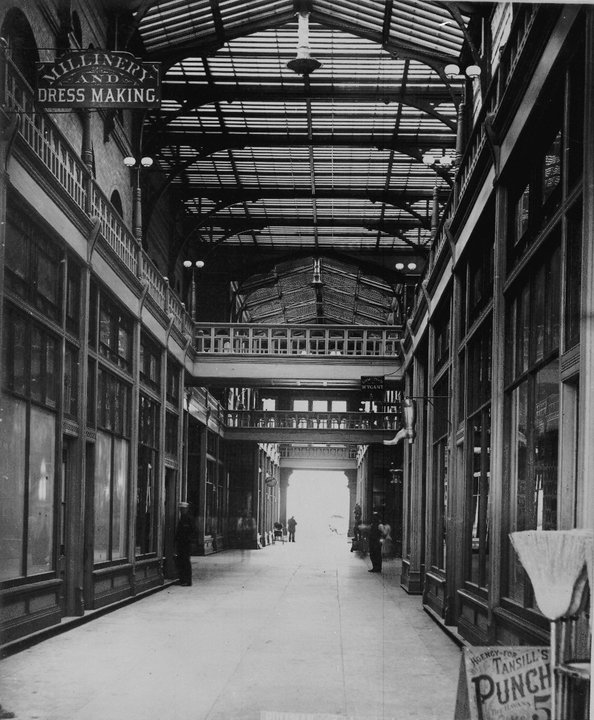The Pullman Arcade Building, as photographed in the late 1880s.(Photo courtesy of Historic Pullman Foundation)