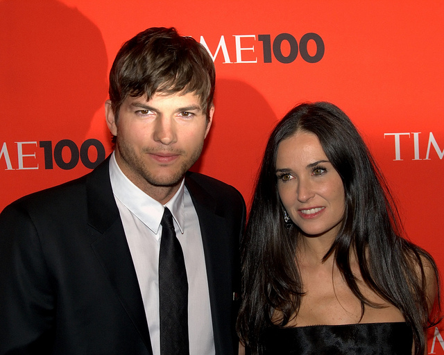 Ashton Kutcher and Demi Moore in 2010. (Flickr/David Shankbone)