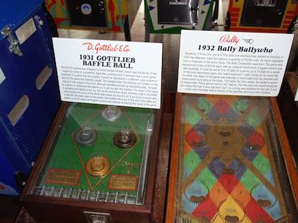 Baffle Ball and Ballywho were two of pinball's earliest successes. The machines were flipper-less, but brought in a stream of pennies anyway. (Flickr/Rob Dicaterino)
