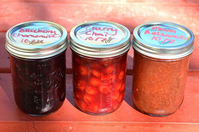 Housemade jams at Bang Bang Pie Shop in Chicago (WBEZ/Louisa Chu)
