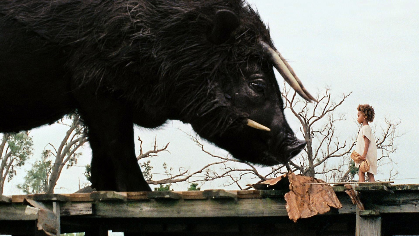 Hushpuppy meets the Auroch in Beasts of the Southern Wild (Fox Searchlight Pictures)